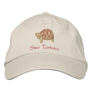 Indian Star Tortoise (embroidery) Embroidered Baseball Cap