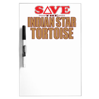 Indian Star Tortoise Save Dry Erase Board