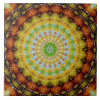 Indian Starburst Ceramic Tile