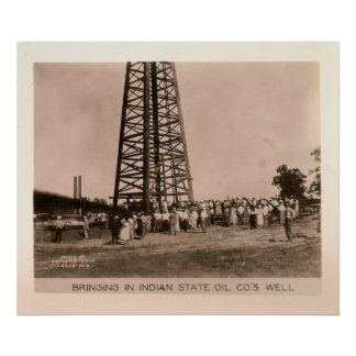 Indian State Oil Co. Well, Kilgore, Texas 1932 Print
