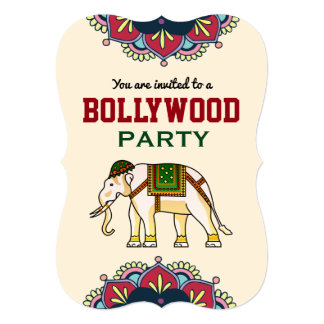 Indian Style Bollywood Party Birthday Invitation