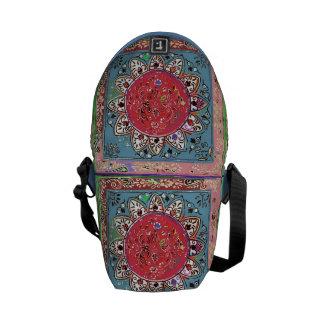 Indian Style Red Sunflower Floral Messenger Bag