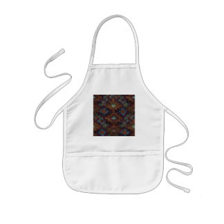 indian style weave diamond and triangle design kids' apron