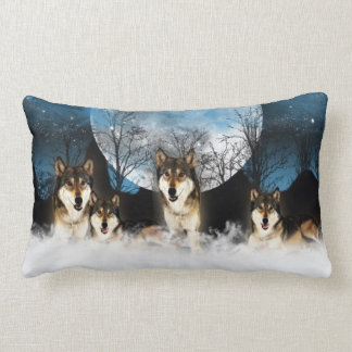 Indian Style Wolf Pillow