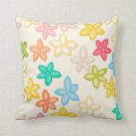 Indian Summer flowers Throw Pillow