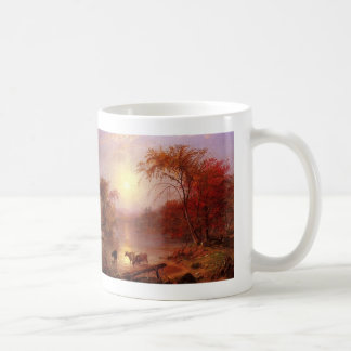 Indian Summer Hudson River by Bierstadt Coffee Mug