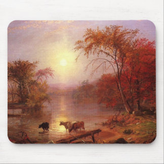 Indian Summer Hudson River by Bierstadt Mouse Pad