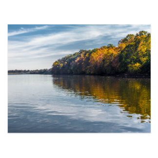Indian Summer on the River Postcard