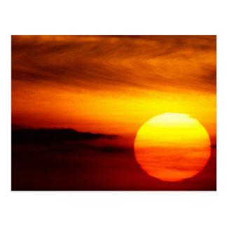 Indian Summer Sunset Postcard