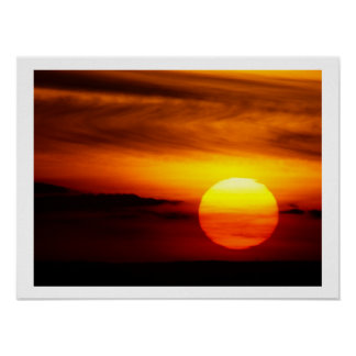 Indian Summer Sunset Poster