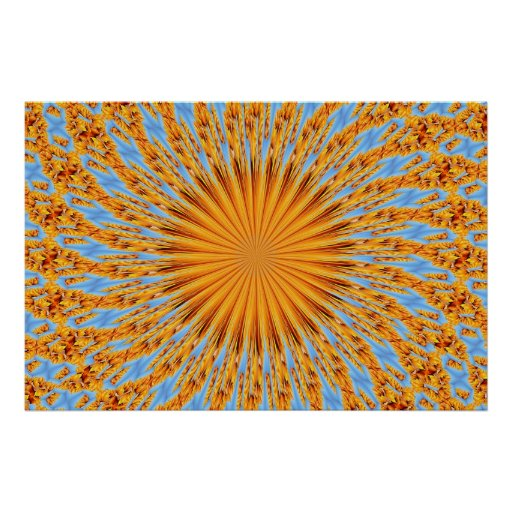 Indian summer warmth poster