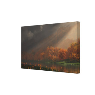 """""""Indian Summer"""" Wrapped Canvas Canvas Print"""