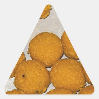 Indian sweet laddoos triangle sticker