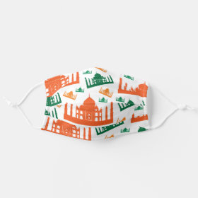 Indian Taj Mahal Travel Pattern Cloth Face Mask