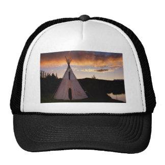 Indian Teepee Sunset  landscape Trucker Hat