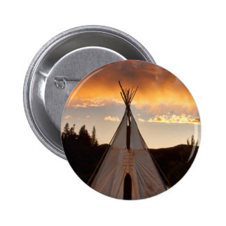 Indian Teepee Sunset vertical image Button