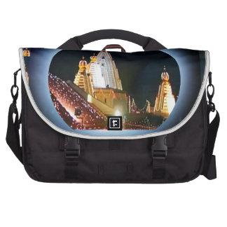 Indian Temple : Diwali Decorations Laptop Bags