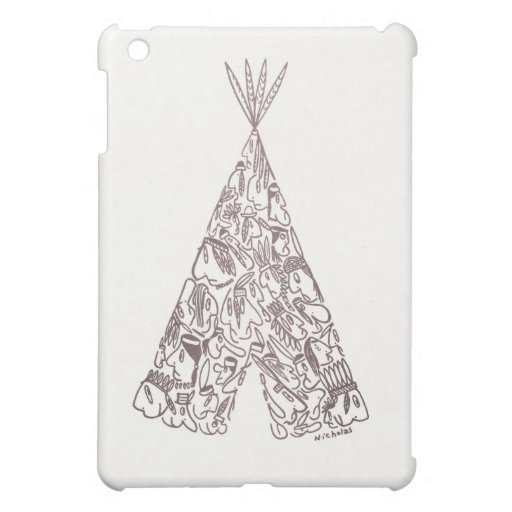 INDIAN TEPEE by NICHOLAS Cover For The iPad Mini