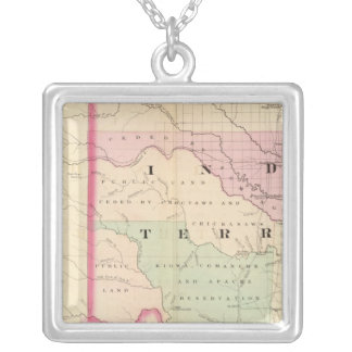 Indian Terr, Texas NW portion Silver Plated Necklace