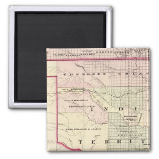 Indian Territory 2 2 Inch Square Magnet