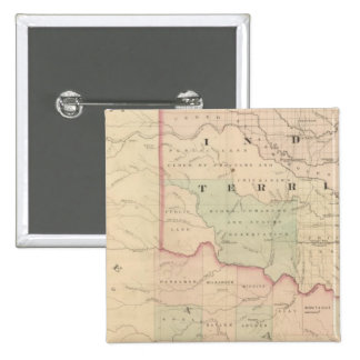 Indian Territory and Texas, North West Portion Button