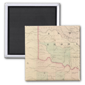 Indian Territory and Texas, North West Portion Magnet