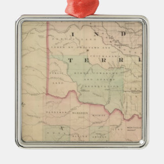 Indian Territory and Texas, North West Portion Christmas Ornament