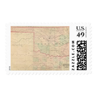 Indian Territory and Texas, North West Portion Postage