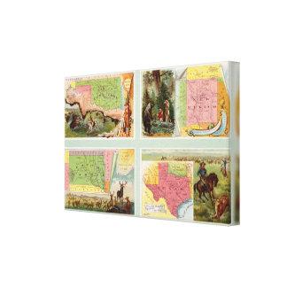 Indian Territory, New Mexico, South Dakota, Texas Canvas Print