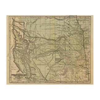 Indian Territory, Northern Texas and New Mexico Wood Print