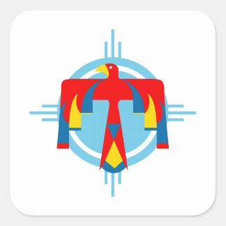 Indian Thunderbird Square Sticker