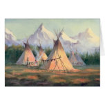 INDIAN TIPI CAMP by SHARON SHARPE Stationery Note Card