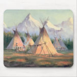 INDIAN TIPI CAMP by SHARON SHARPE Mouse Pads
