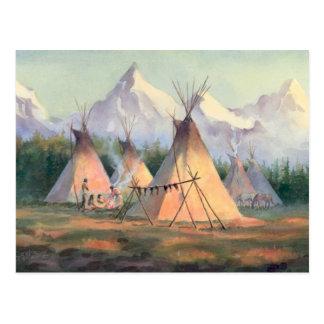 INDIAN TIPI CAMP by SHARON SHARPE Postcard