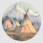 INDIAN TIPI CAMP by SHARON SHARPE Sticker