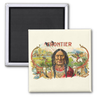 Indian Tobacco Label 2 Inch Square Magnet