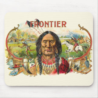 Indian Tobacco Label Mouse Pad