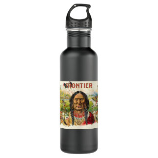 Indian Tobacco Label Stainless Steel Water Bottle
