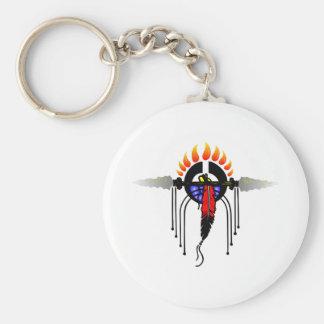 Indian Totem Basic Round Button Keychain