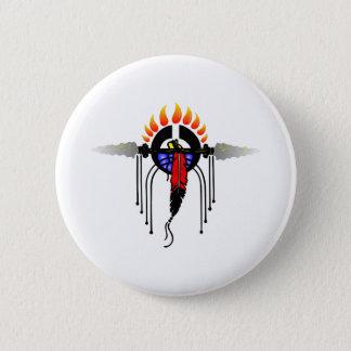 Indian Totem Pinback Button