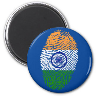 Indian touch fingerprint flag 2 inch round magnet