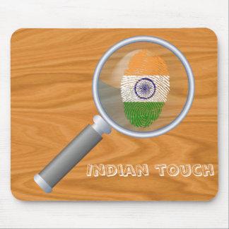 Indian touch fingerprint flag mouse pad