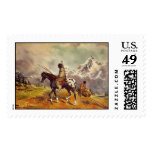 INDIAN TRAVOIS by SHARON SHARPE Postage Stamp