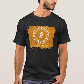 Indian Tribal Design T-Shirt - Black