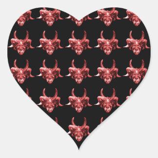 Indian Tribal Mask Pattern Heart Sticker