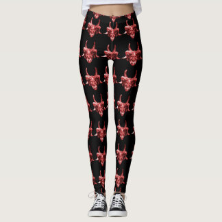 Indian Tribal Mask Pattern Leggings
