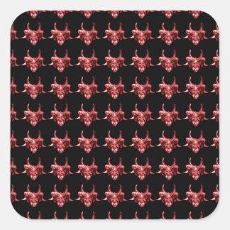 Indian Tribal Mask Pattern Square Sticker