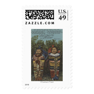 "Indian Twins in Papooses & ""Just Crying�"" Postage Stamps"
