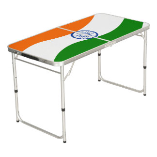 Indian undulating flag beer pong table