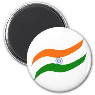 Indian undulating flag magnet